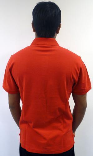 """Rosso Vendita promozionale da Uomo Original Penguin /""""Papà/"""" Retrò Tonale Logo Maglietta Polo in piqué k33"""