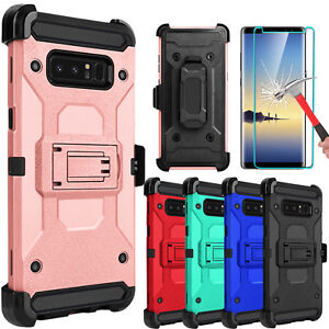 For-Samsung-Galaxy-Note-8-Armor-Case-With-Kickstand-Belt-Clip-Screen-Protector