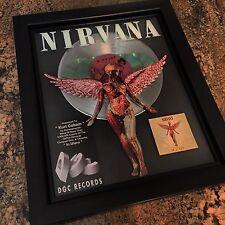 Kurt Cobain Nirvana In Utero Platinum Record Disc Album Music Award MTV RIAA
