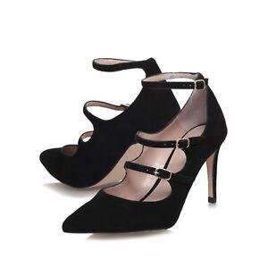 talons Uk 37 daim noires Carvela en 4 sangles Eu Fermeture Chaussures Vente 4zq5wUR6WU