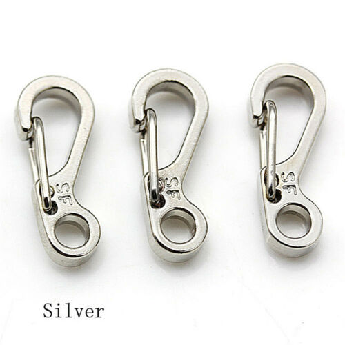 5pcs Mini Spring Cord Buckle Clasp Buckle Snap Hook Carabiner Mountainer HK