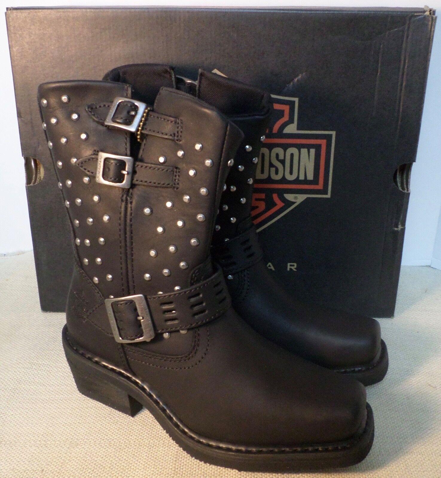 Harley Davidson D83714 para mujer Shirley Shirley Shirley Negro Tachonado botas De Montar Nuevo En Caja  grandes ofertas