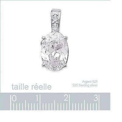 Dolly-Bijoux Pendentif Rubis Cz Multifacette 12 mm en Argent Masssif 925