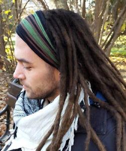 Mens Headband Dreadband Head Scarf Turban Dreadlock Hair Accessories ... 344df31931e
