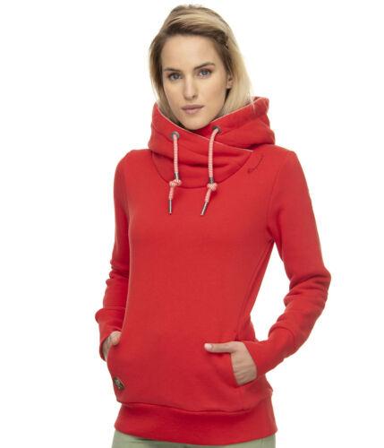 Ragwear Kapuzenpullover Gripy Bold Damen Hoodie vegane Herstellung rot