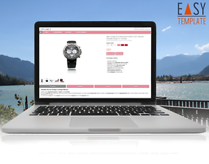 Vorlage 2019 Template Responsive Auktion Design FFT Rosa SEO optimiert
