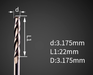 3mm x 22mm Three Flute Spiral bit 3mm 1//8inch CNC//Router Professional Woodwork