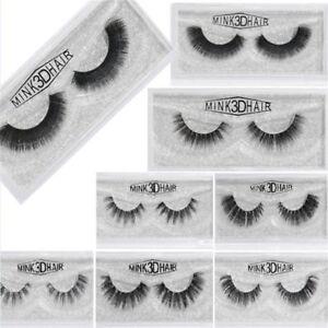 1Pair-3D-100-Mink-Hair-Natural-Long-Eye-Lashes-False-Eyelashes-Handmade-New-so