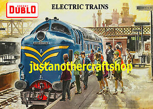 Hornby-Dublo-1960-Deltic-A3-Poster-Advert-Sign-British-Rail-very-high-quality
