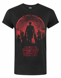 Star-Wars-Rogue-One-Foil-Men-039-s-T-Shirt-Black