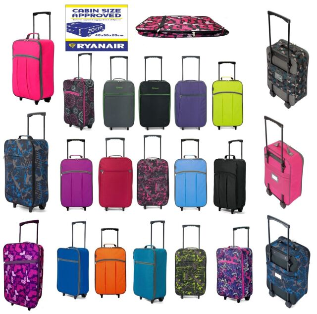 Wheeled Light Weight Small Hand Luggage Suitcase Carry On Travel Bag Ladies Girl