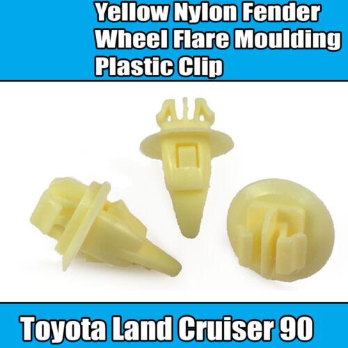 10x para Toyota Land Cruiser 90 Fender amarillo rueda FLARE Moldeo Clip de plástico