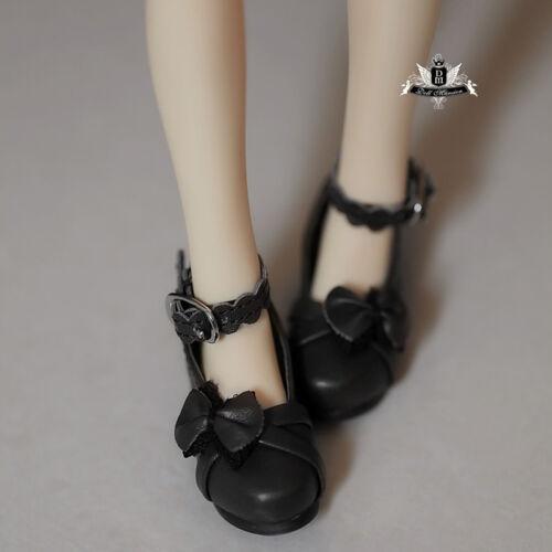 1//4 BJD Shoes MSD Shoes Dollfie MID DOD AOD dz Hollow out Bow Lolita black Shoes