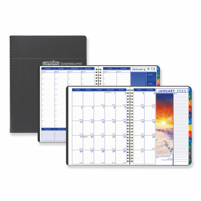 Earthscapes 7 x 10 House of Doolittle 2019 Weekly and Monthly Planner Calendar