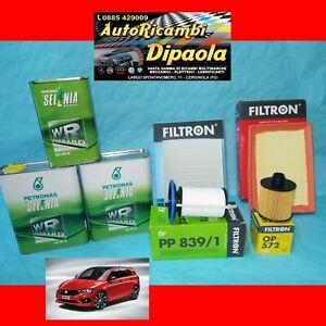 KIT TAGLIANDO FIAT TIPO 1.6 D 84 88 KW 114 120 CV 5L SELENIA 0W30 + 4 FILTRI