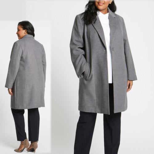 amp;s 4 Marl 3 rrp £69 26 M Grey Size Tailored Curve Coat Plus ~ Length d6qOICO