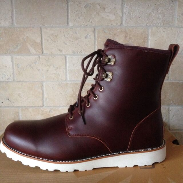 ad6e0a5a983 UGG HANNEN TL CORDOVAN WATERPROOF LEATHER FUR WORK WINTER BOOTS SHOES US 10  MENS