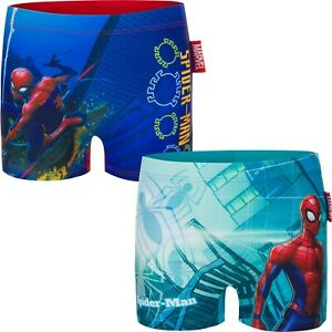 81e70e96cd Image is loading Boys-Kids-Spiderman-Swimming-Boxer-Swim-Trunk-age-