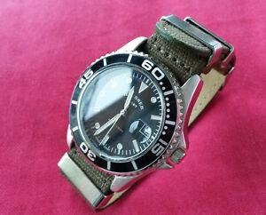 HAUSSER-SPORT-NIGHT-LIGHT-Herren-Armbanduhr-Uhr-mit-Quarzwerk-Textilarmband