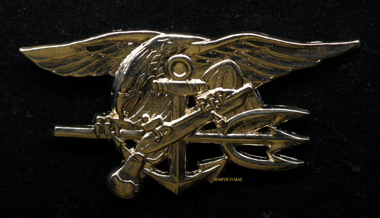 US NAVY SPECIAL WARFARE BADGE SEAL TEAM UDT HAT PIN EAGLE TRIDENT OBL USS WOW