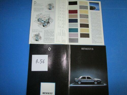 R.56 RENAULT 25 grand catalogue Luxe tout modéle 1985