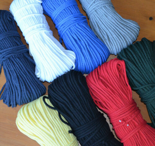clothes 5 mm braided cotton cord bags sewing crocheting 10 lovely colours