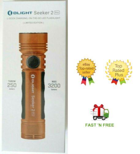 Olight chercher 2 Pro 3200 lm rechargeable tactique léger couleur orange Limited