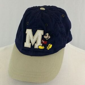 28554af4d2b Walt Disney World Mickey Mouse Strapback Hat Cap Navy Blue Adult ...