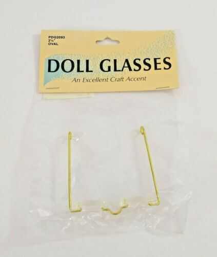 "Wang/'s International Doll Glasses 2.25/"" Oval #PDG2093"