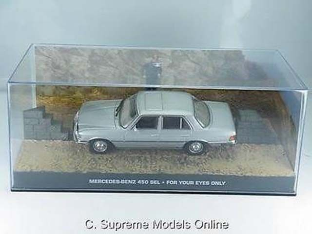 JAMES BOND MERCEDES BENZ 450 SEL FOR FOR FOR YOUR EYES ONLY CAR 1 43RD ISSUE K8967Q  360d08