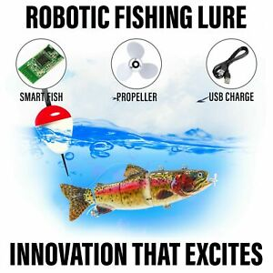 Electric Live bait, Robotic Fishing Lure - Animated Swimming Wobbler - Bass Bait