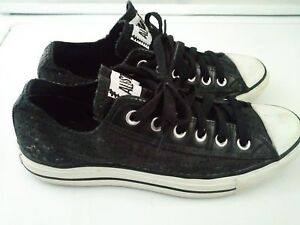 1d0f6e78f0de New Unisex Black Canvas CONVERSE ALL STAR Laced Sneakers Men s Size ...