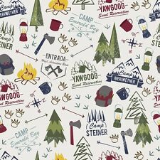 By 1/2 Yard~ Modern Scouting Main Offwhite~Riley Blake Boy Scouts Camping Fabric