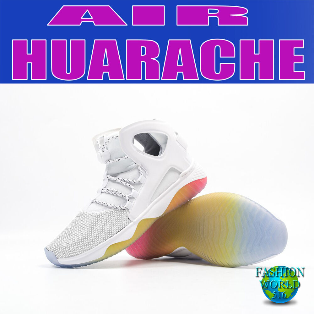 low priced 1af34 b12ba NIKE MEN S SIZE 9 9 9 AIR FLIGHT HUARACHE ULTRA 880856 WHITE PURE PLATINUM PINK  1aa227