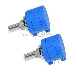 2PCS-3590S-2-103L-10K-Ohm-Rotary-Wirewound-Precision-Potentiometer-Pot-10-Turns