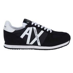Scarpe-uomo-Armani-Exchange-Sneakers-XUX017-XV028-K489-Nero-Primavera-Estate