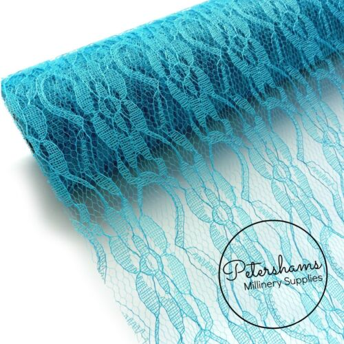 Lace Netting Fabric for Fascinators 1 metre Millinery /& Wedding Craft