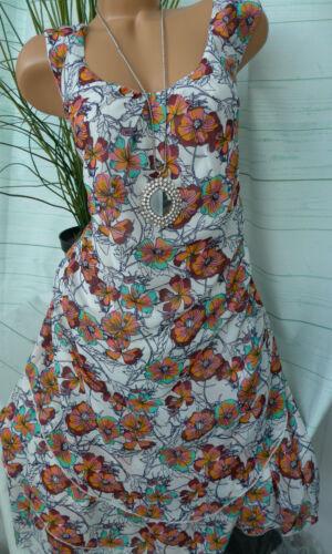 Sheego Robe femmes mousseline de soie robe taille 44 à 54 A Motif Doux descendant 531 NEUF