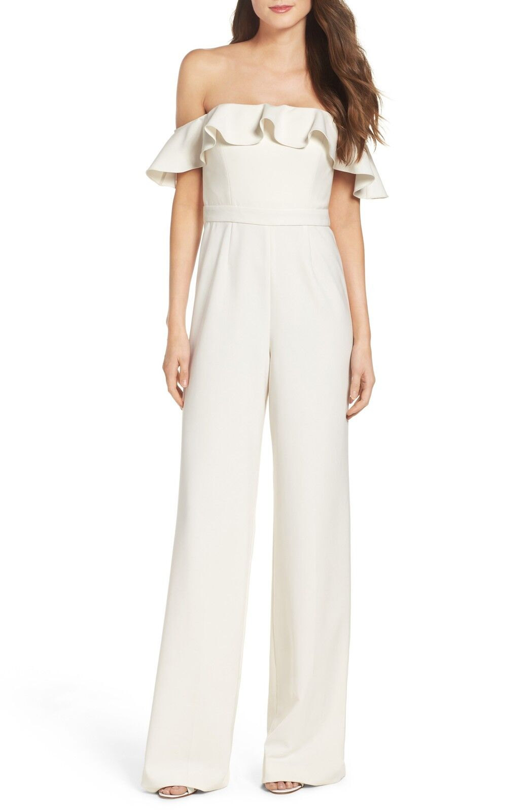 NEW JAY GODFREY Biondi Off the Shoulder JUMPSUIT  SIZE 2 IVORY NORDSTROM