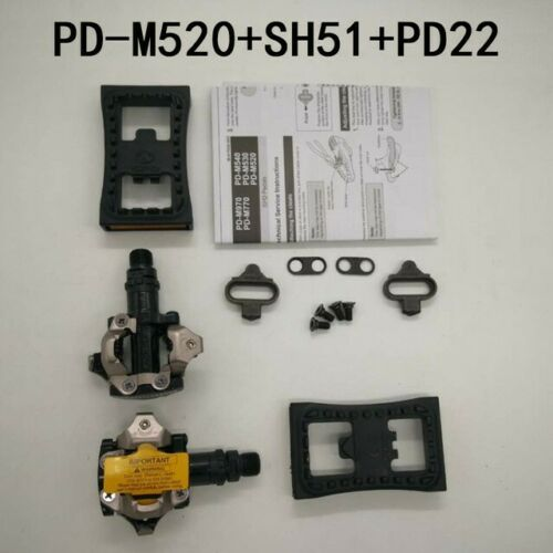SHIMANO PD-M520 Cycling Mountain Bicycle Pedals with SH51 SPD Cleats