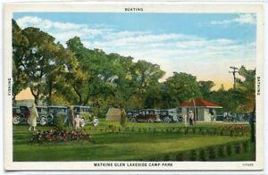 Lakeside-Camp-Park-Watkins-Glen-New-York-1930s-postcard
