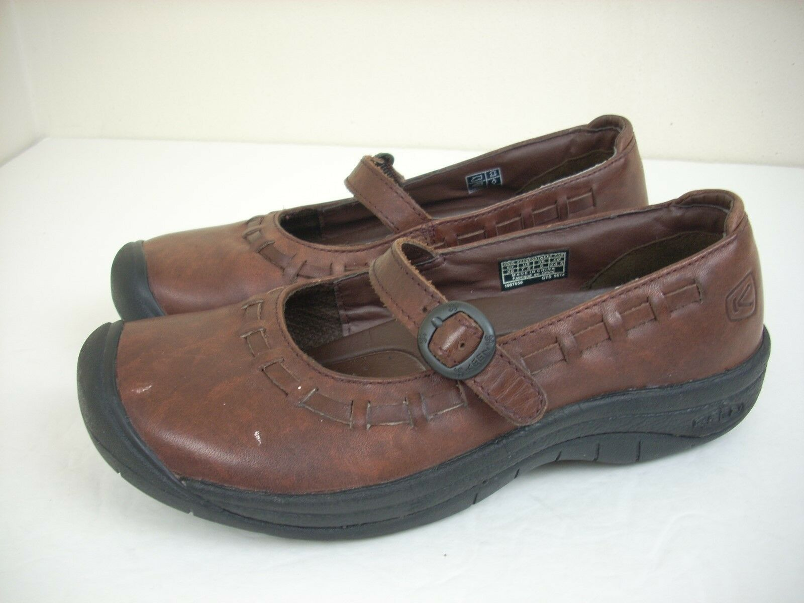 KEEN Mary Janes 7.5 scarpe marrone Pelle Hike Walk Donna Trail Trail Donna Winslow ... 7ed62c