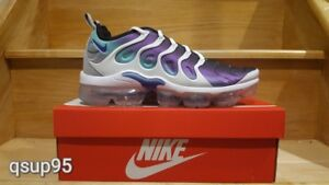 newest fdfc0 3bd64 Details about Nike Air VaporMax Plus Grape White Fierce Purple Green  924453-101 Size 8-13 New