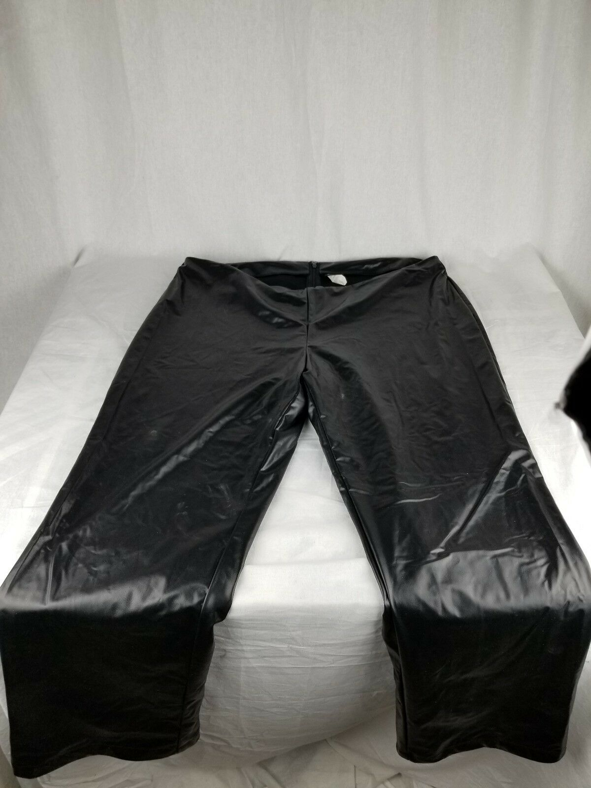 Vintage 80s Fredericks of Hollywood USA Faux Leather Black Latex Pants woman 18