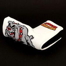 Bulldog White Golf Headcover Blade Putter, Scotty Cameron, Bettinardi, Ping Nike