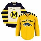 Michigan Wolverines REEBOK EDGE NCAA Premier Retro Hockey Jersey Collection Men