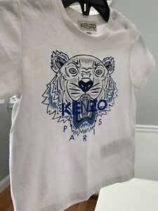 Authentic-kenzo-kids-white-tshirt-boys-size-18-months-great-condition