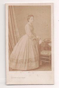 Vintage-CDV-French-Aristocratic-Lady-High-Society-Levitsky-Photo-Paris-France