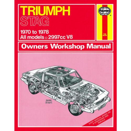 Triumph Stag Haynes Manual 1970-78  3.0 V8 Petrol Workshop
