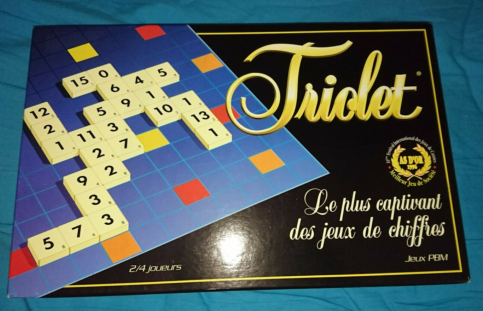Triolet  Scrabble con números jeux PBM rareza as d 'or excelente  como nuevo